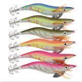 ราคา 6ชิ้น6สี เหยื่อปลอมตกหมึก เซ็ตโยกุ้งเรืองแสง 6Pc Brand Fishing Lure Squid Jigs Fishing Tackle 6 Color 14G 12Cm Fishing Bait 3 Hook Unbranded Generic เป็นต้นฉบับ