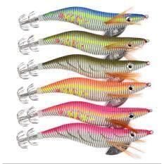 ความคิดเห็น 6ชิ้น6สี เหยื่อปลอมตกหมึก เซ็ตโยกุ้งเรืองแสง 6Pc Brand Fishing Lure Squid Jigs Fishing Tackle 6 Color 14G 12Cm Fishing Bait 3 Hook