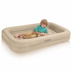 ซื้อ ที่นอน ที่นอนเป่าลม ที่นอนเด็ก มีขอบกั้นเพื่อความปลอดภัย รุ่น 66810 ผิวกำมะหยี่หนาเป็นพิเศษ รับน้ำหนักได้ 90 Kg รับประกันของแท้ 100 แถมฟรี สูบมือIntex และแผ่นปะรอยรั่วในกล่อง โปรดระวังสินค้าลอกเลียนแบบ Intex ออนไลน์