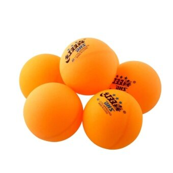 6Pcs 3 stars DHS 40MM Olympic Tennis Orange Ping Pong Balls Competition - intl