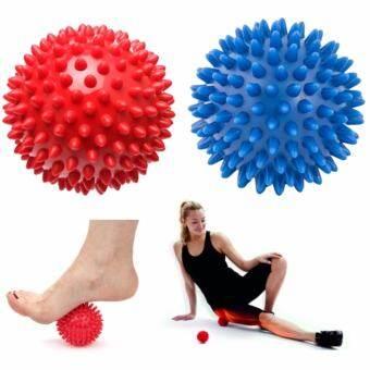 a*bloom แพ็คคู่ ลูกบอลนวด บริหารร่างกาย แบบมีหนาม SPIKY MASSAGE BALL (สีแดง/สีน้ำเงิน)-