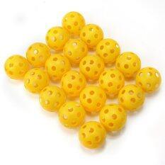 Ac 20 ชิ้น Whiffle ทนทานกลวง Perforated กอล์ฟพลาสติกการฝึกอบรมการฝึกอบรมลูกบอลร้อน-นานาชาติ By Artisitconception.
