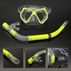 ราคา *d*lt Glass Swimming Swim Diving Scuba Anti Fog Goggles Mask Snorkel Set Intl Thailand