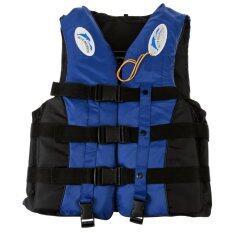 ซื้อ เสื้อกั๊กชูชีพโฟมว่ายน้ำผู้ใหญ่นกหวีดป้องกันอุทกภัย M สีน้ำเงิน Intl Unbranded Generic ถูก