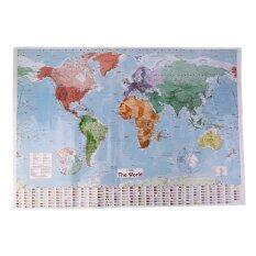 ซื้อ โอนิว 97 5 X 67 5 ใหญ่แผนที่โลกแผนภูมิภาพด้านการสอนภาษาฝรั่งเศส ถูก