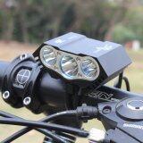 ขาย ไฟฉายติดจักรยาน แบตเตอรี่ ไฟหน้าจักรยาน Darkness Beam X3 Bicycle Light สีดำ ถูก ไทย