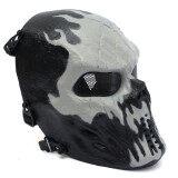 โปรโมชั่น Airsoft Paintball Full Face Protection Skull Mask Outdoor Tactical Gear Chost Fire