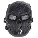 Airsoft Paintball Tactical Full Face Protection Skull Mask Army Black เป็นต้นฉบับ
