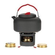 ราคา Alocs น้ำหนักเบากาต้มน้ำกลางแจ้งตั้งแคมป์เครื่องครัวหม้อไอน้ำหม้อ 1 4L แอลกอฮอล์เตาเครื่องทำความร้อนและวงเล็บสนับสนุนแบบพกพา นานาชาติ ออนไลน์