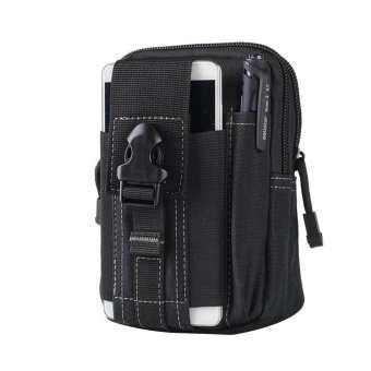 Amart ผู้ชายกันน้ำยุทธวิธีกระเป๋าใส่เหรียญกระเป๋าคาดเอวโทรศัพท์มือถือถุงผ้า - INTL-
