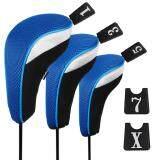 ขาย Andux 3Pcs Golf 460Cc Driver Wood Head Covers With Long Neck And Interchangeable No Tags ใน จีน