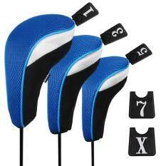 ขาย Andux 3Pcs Golf 460Cc Driver Wood Head Covers With Long Neck And Interchangeable No Tags ราคาถูกที่สุด