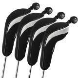 ขาย Andux 4Pcs Set Golf Hybrid Club Head Covers Headcovers Interchangeable Black ถูก