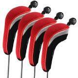 โปรโมชั่น Andux 4Pcs Set Golf Hybrid Club Head Covers Headcovers Interchangeable Mt Hy01 Red จีน
