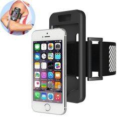 ราคา Anti Drop ส่องสว่าง Armband ซิลิโคนโทรศัพท์กรณีสำหรับ Iphone Se 5 วินาที 5 สีดำ Unbranded Generic