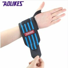 โปรโมชั่น Aolikes 1 Pair Wrist Support Straps Wraps For Weight Lifting Fitness Gym Sport Wristbands Hand Bands 3 Colors Training Necessary Intl ใน จีน