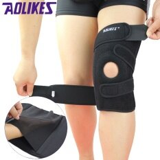 ขาย Aolikes 1 Piece Sports Knee Pads Four Springs Support Eva Breathable Brace Knee Protector Kneepad Ginocchiere Right Knee 1 Piece Intl ถูก ใน จีน