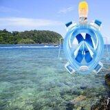 ราคา อาร์ 72 41 หน้าแบบหน้ากากดำน้ำสำหรับ Gopro L Xl กล้อง สีน้ำเงิน ออนไลน์ Thailand