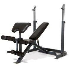 โปรโมชั่น Avarin เก้าอี้บาร์เบล ม้าดัมเบล ม้าบริหารหน้าอก พร้อม แร็ควางบาร์เบล Adjustable Weight Bench And Barbell Squat Rack รุ่น Hero สีดำ กรุงเทพมหานคร