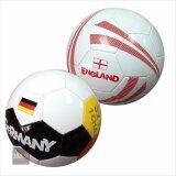 ส่วนลด สินค้า บอลหนังเย็บลายทีมชาติ No 5 แพ็คคู่ลายทีมชาติ เยอรมัน กับ อังกฤษ Multicolor