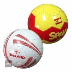 ซื้อ บอลหนังเย็บลายทีมชาติ No 5 แพ็คคู่ลายทีมชาติ สเปน กับ อังกฤษ Multicolor Unbranded Generic ออนไลน์