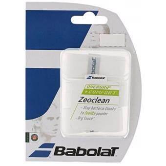 Babolat กริ๊ปพันด้ามเทนนิส BABOLAT ZEOCLEAN OVERGRIP 3 ชิ้น (สีขาว)