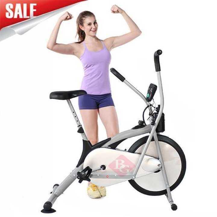 B&G Fitness จักรยานนั่งปั่นออกกำลังกาย จักรยานบริหาร Air Bike รุ่น BG8701