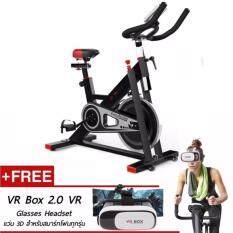ซื้อ B G Spin Bike จักรยานออกกำลังกาย Exercise Fitness Spin Bike Commercial Grade ระบบสายพาน Black รุ่น S401 ฟรี แว่น 3 มิติ Vr Box