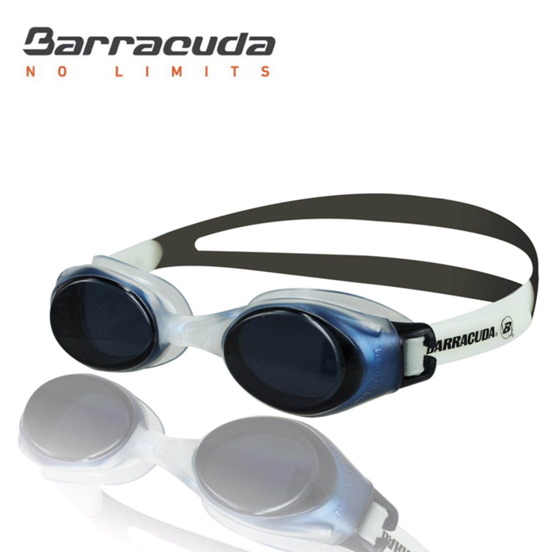 Barracuda Swimming Goggles - Slanted Lenses One-piece Frame, Anti-Fog UV Protection, Shatter-resistance, Easy Adjusting Lightweight Comfortable for Adults Men Women #13355