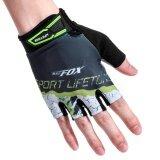 ขาย ซื้อ ออนไลน์ Batfox Men S Women S Summer Cycling Half Finger Gloves Breathable Wear Resistant Sports Gloves Intl