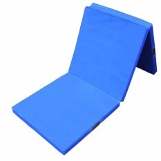 Begins เบาะรอง สำหรับออกกำลังกาย พับได้ 3 ท่อน Foldable Exercise Mat (blue).