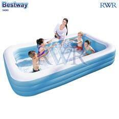 ขาย Bestway สระน้ำ เป่าลม สี่เหลี่ยม สีฟ้า 305X183X56 ซม รุ่น 54009