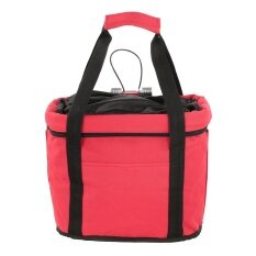 ขาย Bicycle Basket Detachable Cycling Bike Handlebar Front Carrier Bag Pet Carrier Aluminum Alloy Frame Intl จีน ถูก