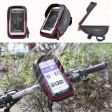 ทบทวน Bicycle Bike Cycling Front Frame Tube Handlebar Bag Waterproof 6 Mobile Phone Intl
