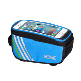 ราคา Bicycle Frame Front Tube Multifunction Waterproof Mobile Phone Bag Blue เป็นต้นฉบับ