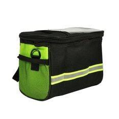 ส่วนลด Bike Cycling Outdoor Front Basket Pannier Frame Tube Handlebar Bag Pouch Green Intl Unbranded Generic จีน