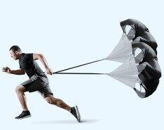 สีดำความเร็วการฝึกอบรมความต้านทานร่มชูชีพวิ่งการฝึกอบรมฟุตบอล Parachute - นานาชาติ.