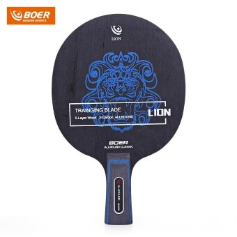 BOER Outdoor Lion Pattern Table Tennis Ping Pong Racket Training Blade (Short Handle) - intl