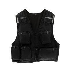 ราคา Bolehdealsnหลายกระเป๋าเสื้อแจ็กเก็ตเสื้อกั๊กล่าสัตว์ประมงถ่ายรูป สีดำ Xl ใหม่ ถูก