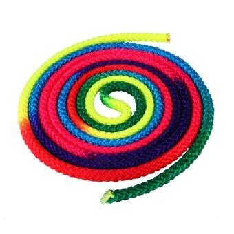 BOOM-Rainbow ไนล่อนเชือก Ginastica สียิมนาสติกจังหวะการแข่งขัน