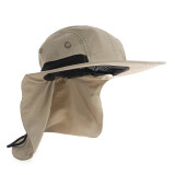 ซื้อ Boonie Hunting Fishing Boating Hiking Snap Hat Brim Ear Neck Cover Sun Flap Cap Intl Unbranded Generic