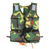 ราคา Buoyancy Life Vest Swimming Boating Sailing Surfing Ski Jacket With Whistle Child Camouflage Intl