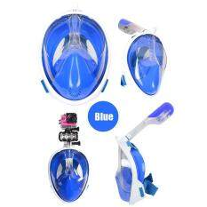 ซื้อ Buyincoins Swimming Full Face Mask Surface Underwater Diving Snorkel Scuba Swim Tool Black S M Intl ถูก