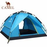 โปรโมชั่น Camel กลางแจ้งเต็นท์เปิดอัตโนมัติกันฝนการตั้งแคมป์เต็นท์ 3 4 คน นานาชาติ Camel