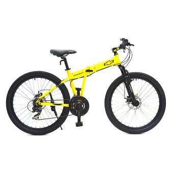 Chevrolet Folding bike จักรยานเสือภูเขา พับได้ รุ่น Cross 2621 (สีเหลือง)