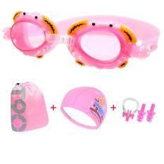 เด็กแว่นตาว่ายน้ำหมวกว่ายน้ำ 4-10 ปี-นานาชาติ.