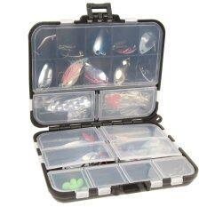 ขาย ซื้อ ชุดช้อนโลหะสำหรับตกปลา ล่อปั่น พร้อมกล่องแท็กเกิล 37 ชิ้น