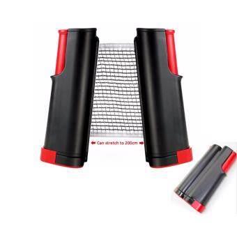 CMA เสาเน็ตปิงปอง พกพา ยืดได้ / หดเก็บได้ Table tennis rack สีดำ