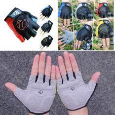 ซื้อ Cool Cycling Gloves Bicycle Bike Riding Motorcycle Sports Gel Half Finger Gloves ถุงมือสำหรับปั่นจักรยาน
