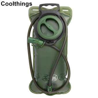 ถุงใส่น้ำ เดินป่า กระเป๋าเก็บน้ำ แค้มปิ้ง Coolthings  Hydration System Water Bag 2 L สำหรับใส่เป้สะพายหลัง ( สีเขียว )